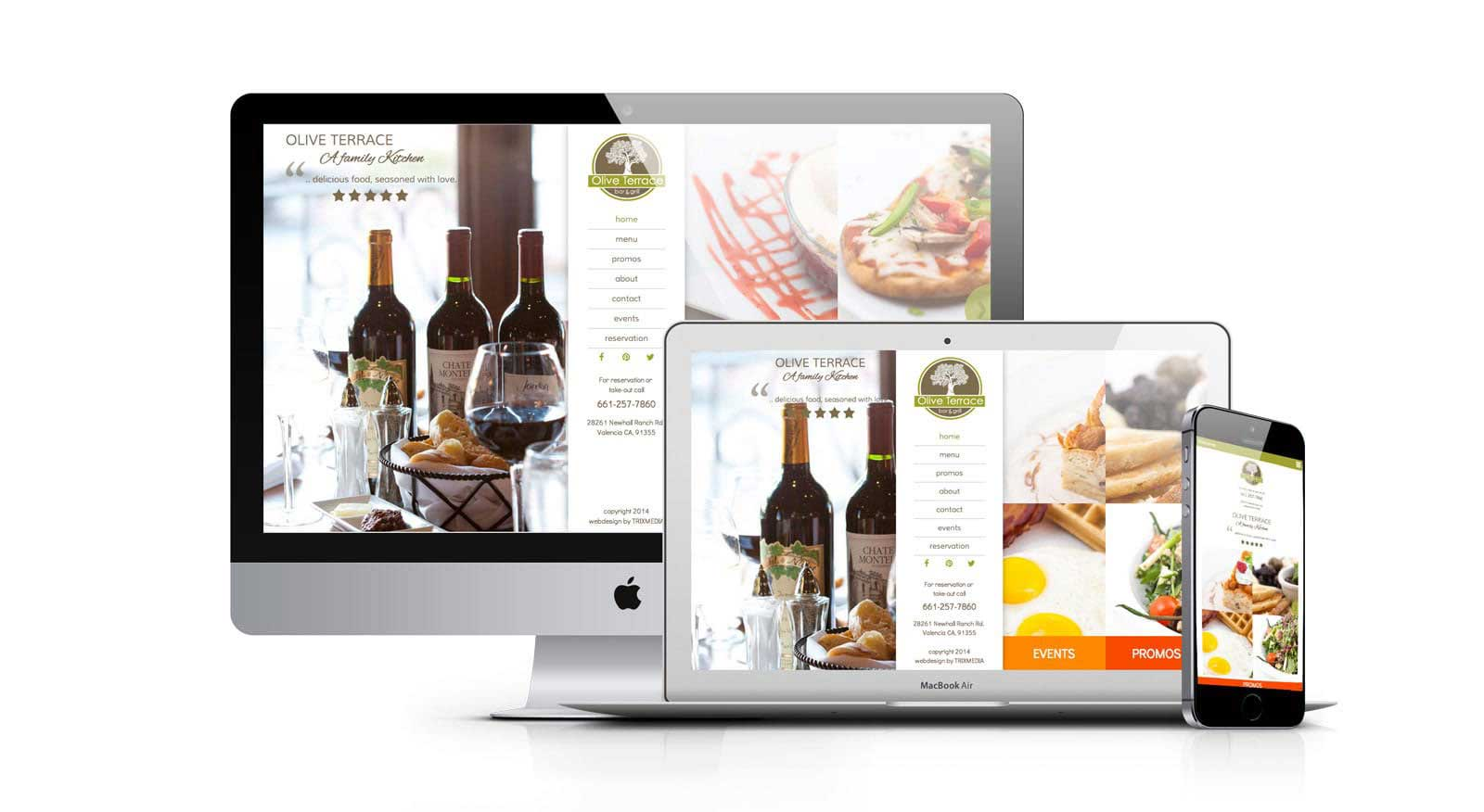 Olive Terrace Restaurant Website Design