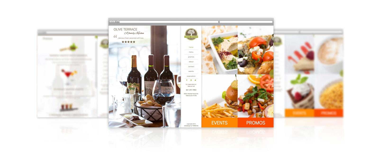 Olive Terrace Restaurant Web Design