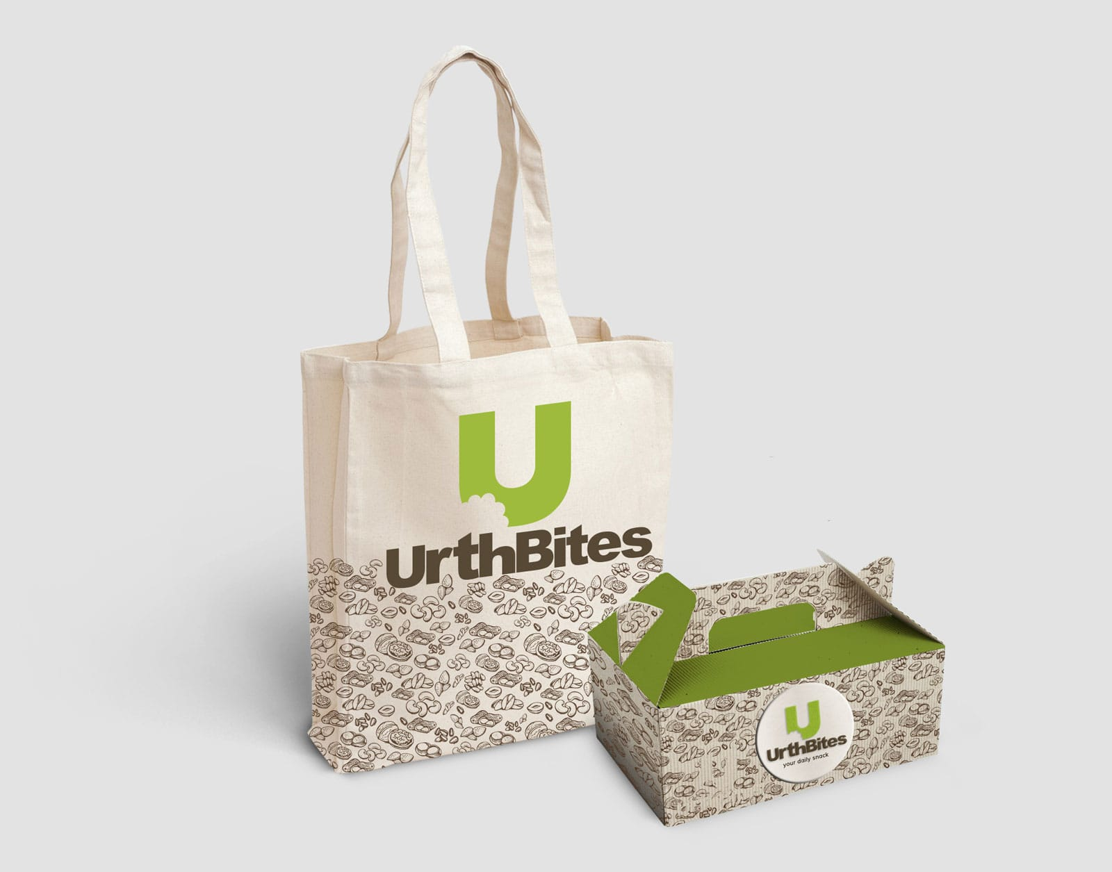 Urth Bites Grocery Bag Design